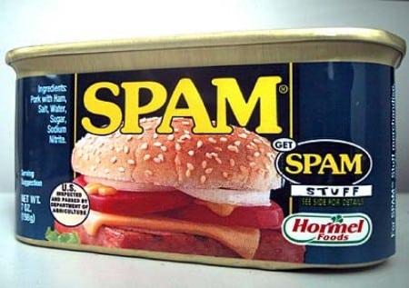 El origen de la palabra SPAM que denomina el correo basura