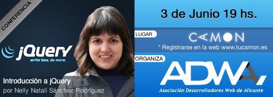 VIII Conferencia de Adwa sobre Introducción en jQuery por Nelly Natalí Sánchez Rodríguez