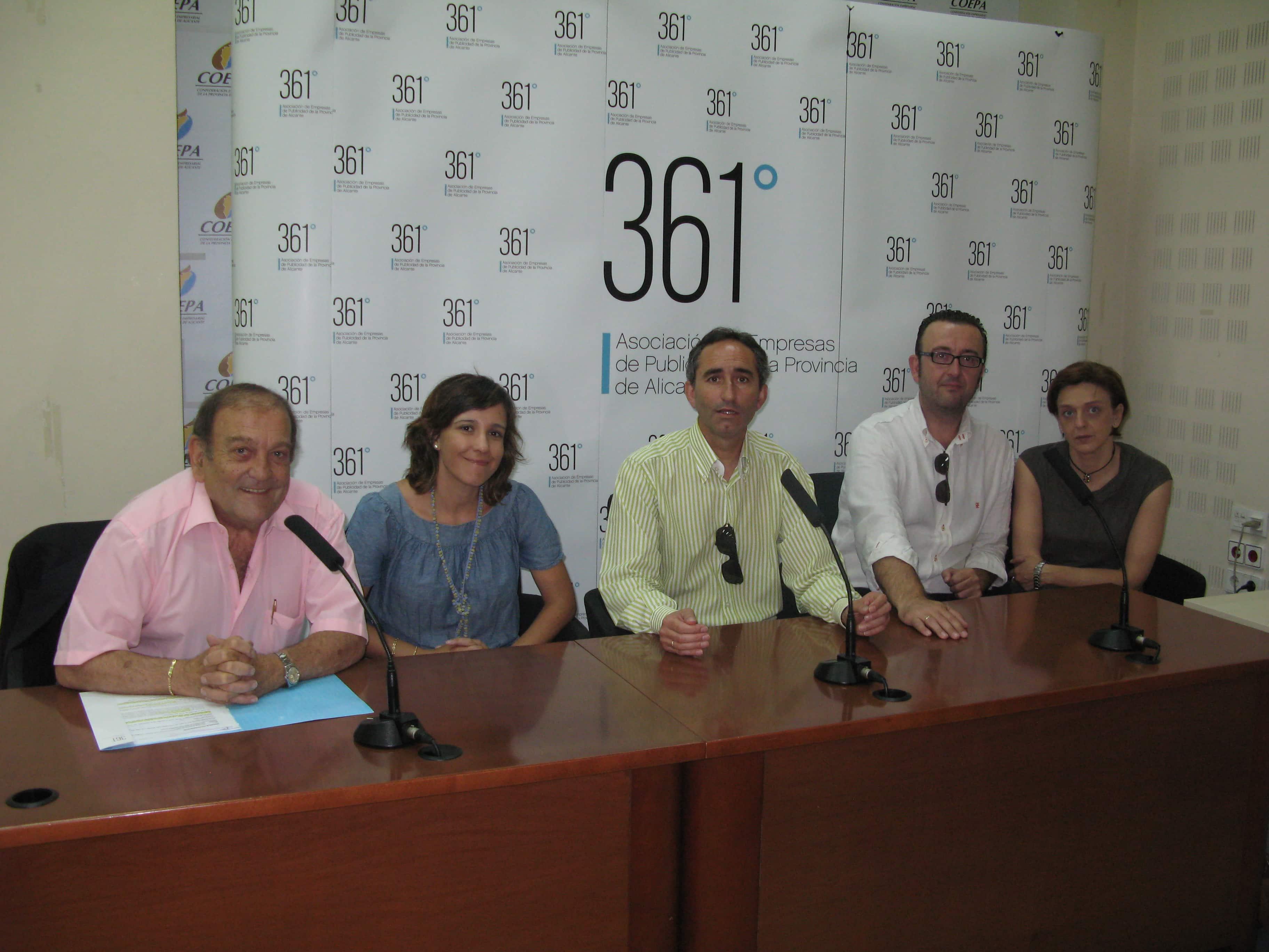 La publicidad alicantina estrena marca, asociación 361º