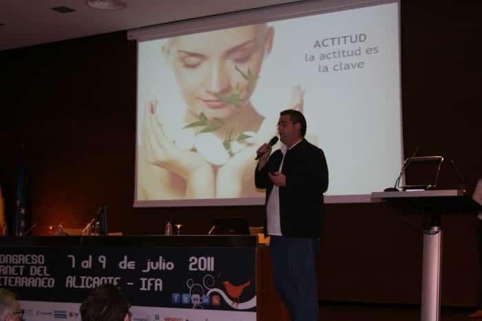 Isidro Pérez presenta linktoStart en el II Congreso de Internet del Mediterráneo