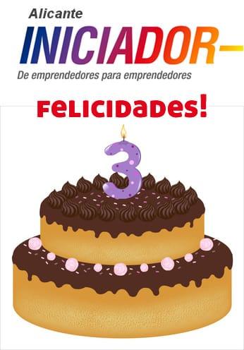 Felicidades por el tercer año de Iniciador en Alicante