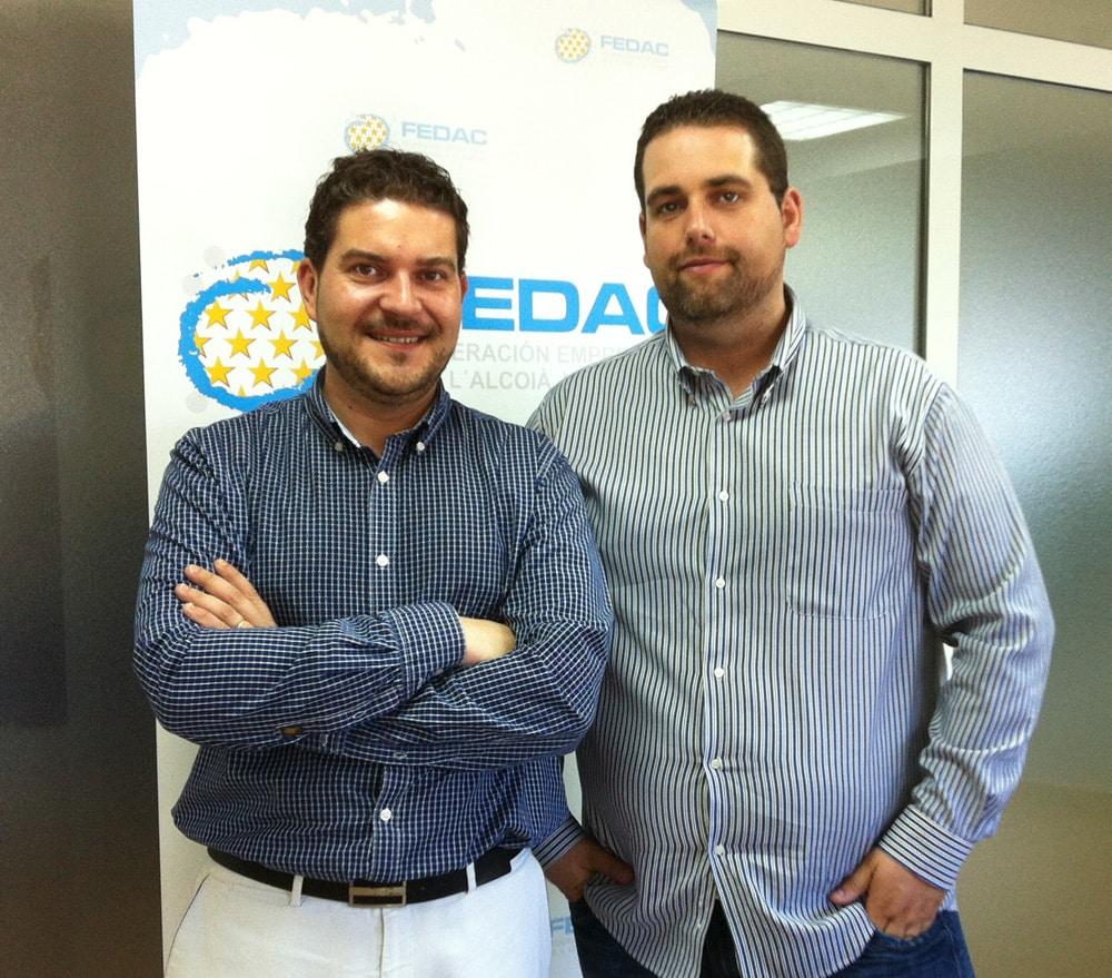 Victor Ferrer e Isidro pérez presidente y Vicepresidente de Jovempa Alcoià Comtat i Foia