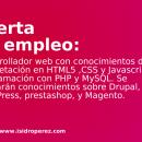 Oferta de empleo Alicante: Se busca desarrollador web con conocimientos de maquetación en Hmtl5