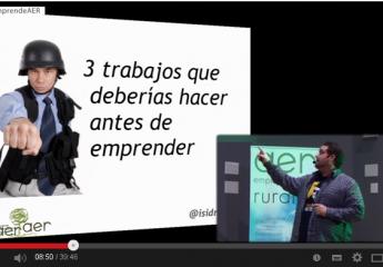 Emprendimiento Sostenible, vídeo sobre mi conferencia en la presentación de AER, Asociación de Emprendedores Rurales