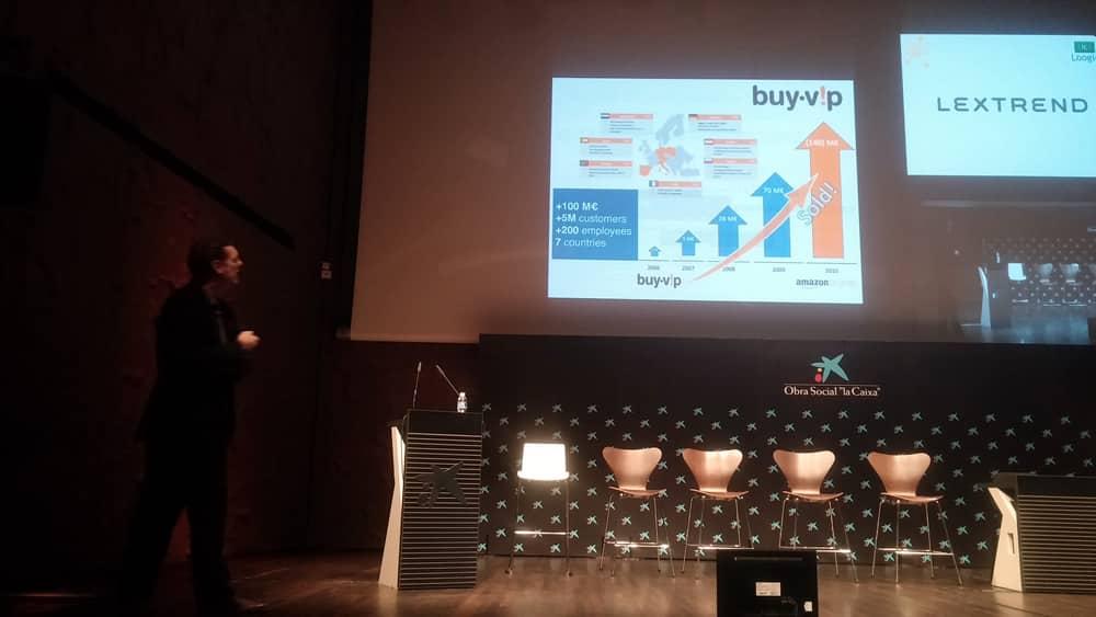 """José Luis Vallejo  Fundador de Medianet y Buyvip explicando esta última como su """"Canción del Verano"""" ;)"""