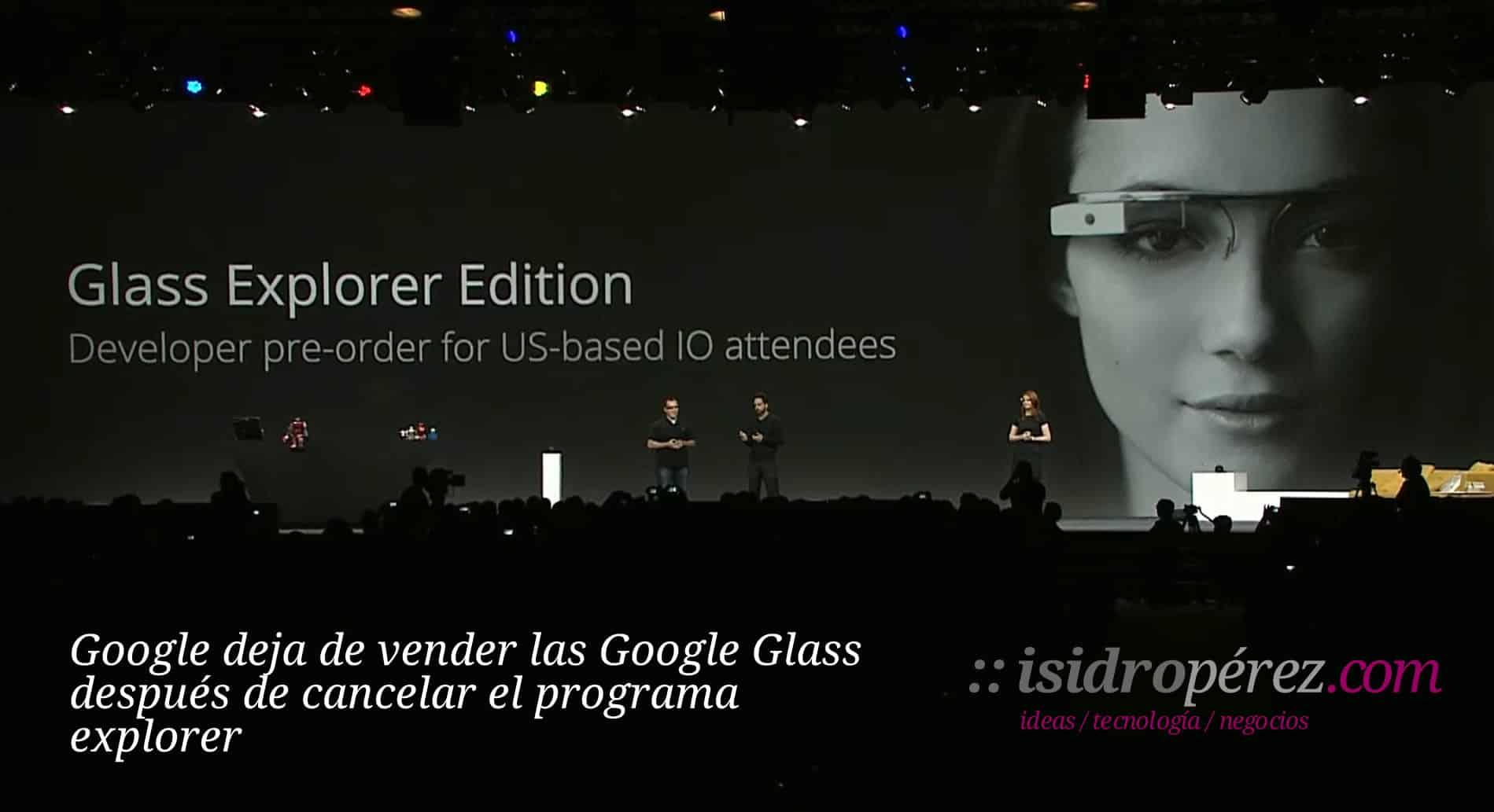 Google deja de vender las Google Glass