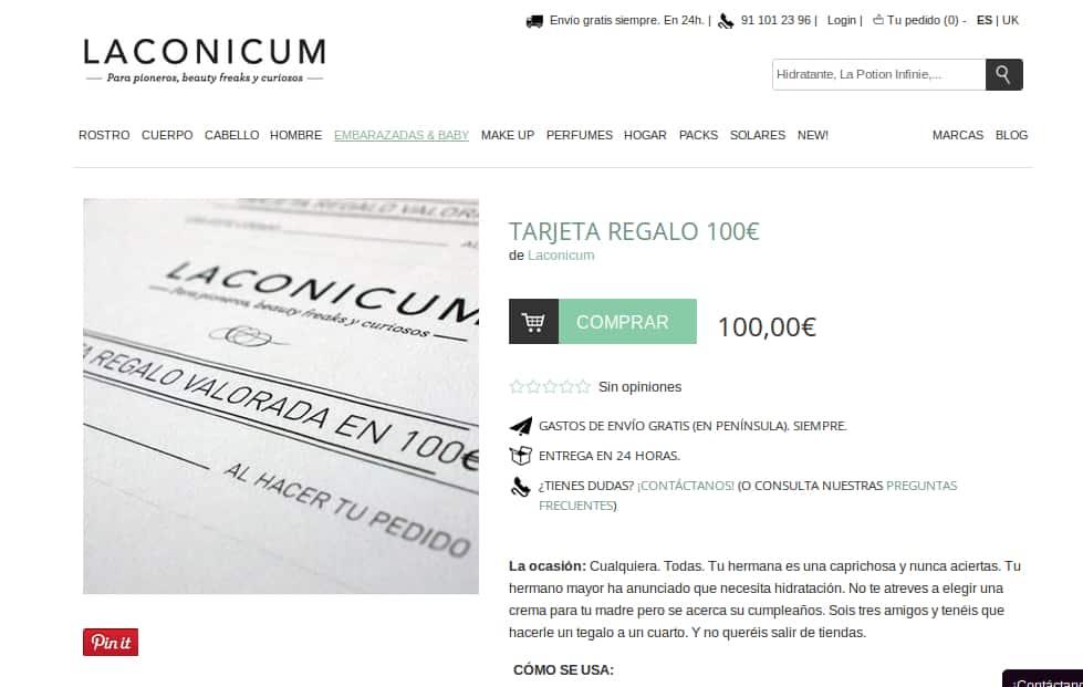 Ejemplo de comercio electrónico con contenido que se pone en la piel del comprador potencial