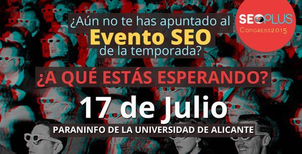 Enlace al SeoPlus Congress 2015 en Alicante