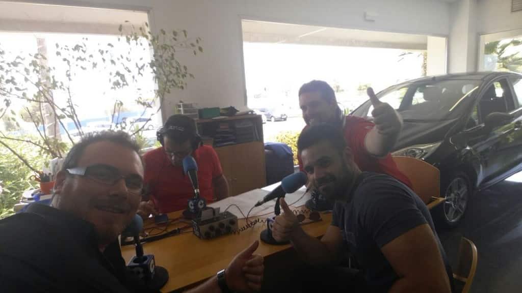 Momentos antes de hablar de SeoPlus Congress en Cope Alicante
