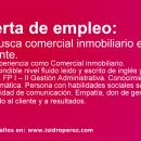 Oferta Empleo: Se busca comercial inmobiliario en Alicante.
