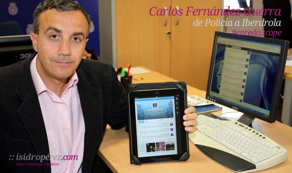 Carlos fernandez, community manager de Policia ficha por Iberdrola para gestionar sus redes sociales