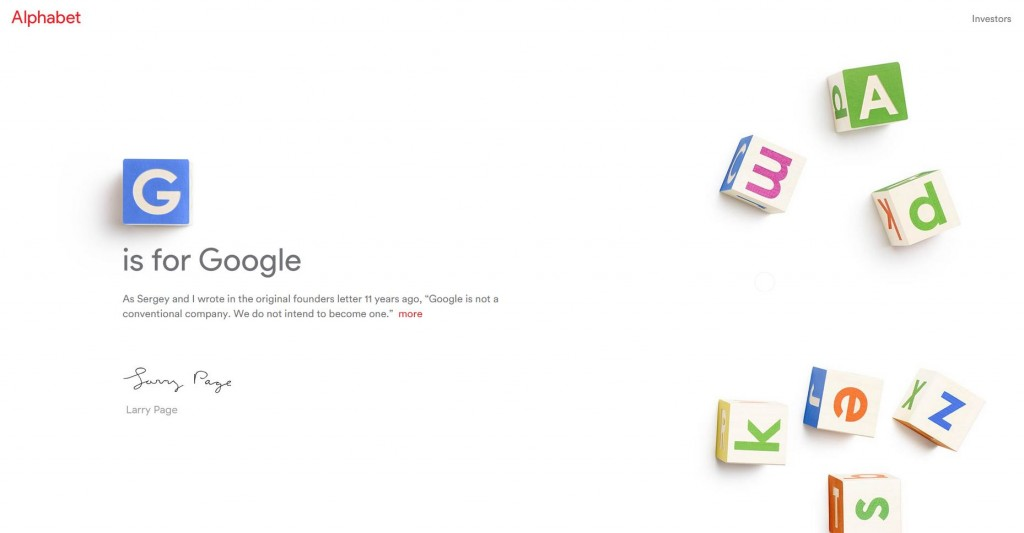Alphabet  el nuevo nombre de Google es ya una realidad
