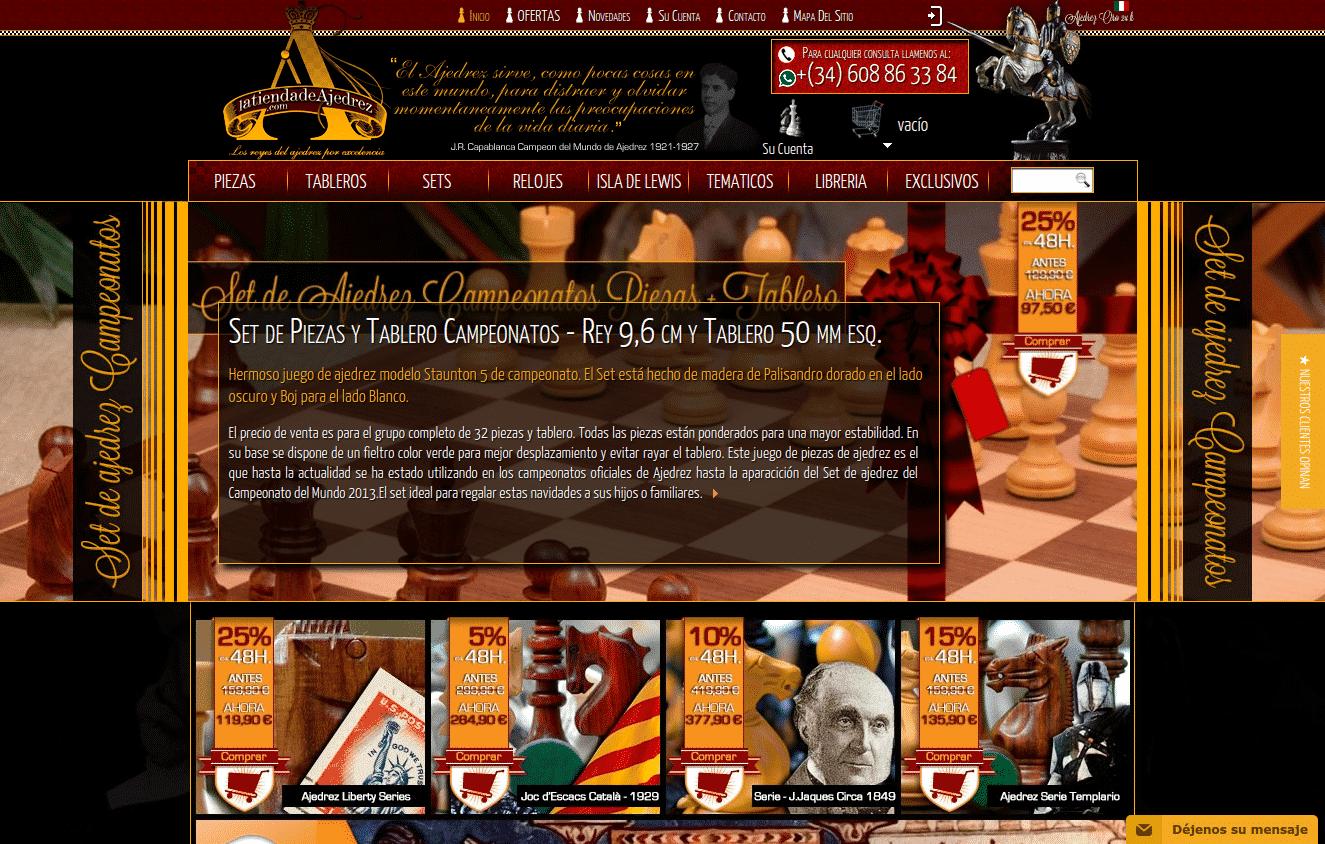 Tienda especializada en productos de ajedrez