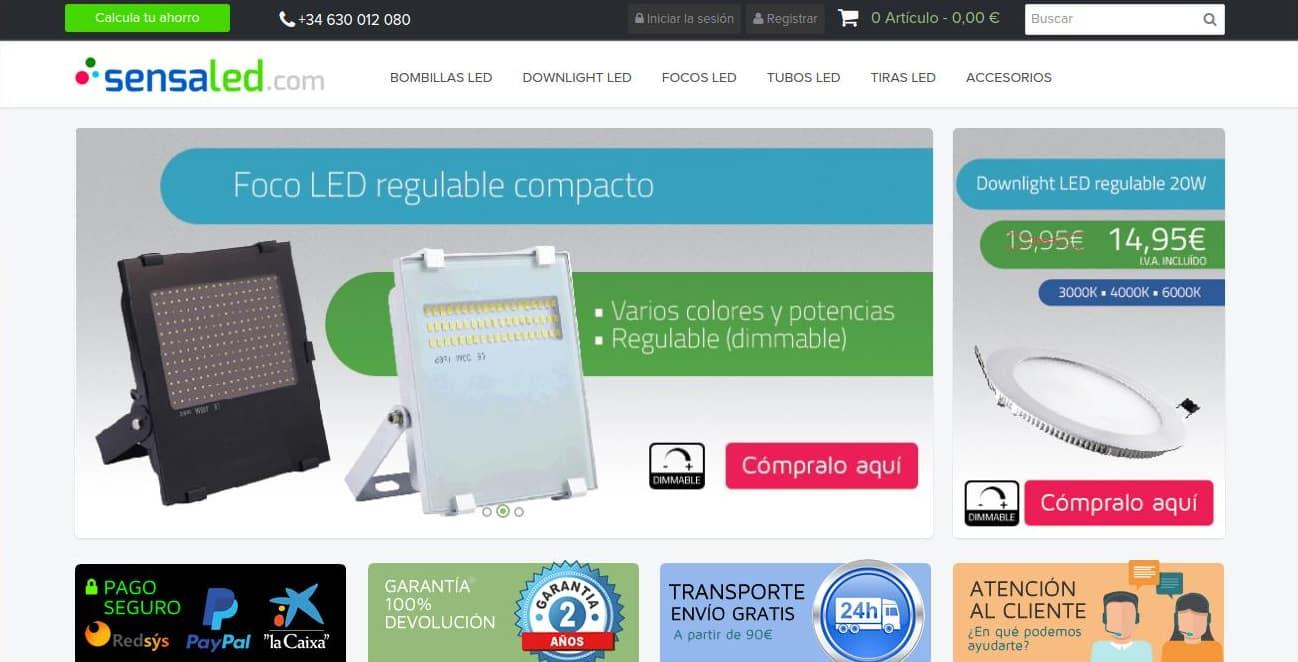 483055cf7 Sensaled es una empresa ubicada en España y centrada en la venta de  artículos del mundo de la iluminación LED
